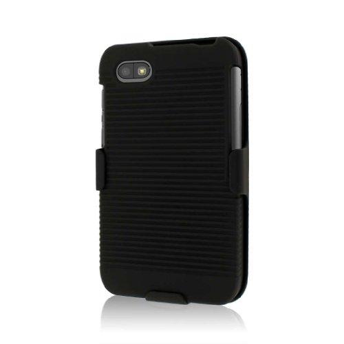 MPERO Sammlung 3 in 1 Tough Schwarz Kickstand Case Tasche Hülle for BlackBerry Q5