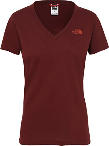 THE NORTH FACE Simple Dome SS Tee Damen Sequoia red Größe L 2019 Kurzarmshirt - The North Face V-ausschnitt-shirt