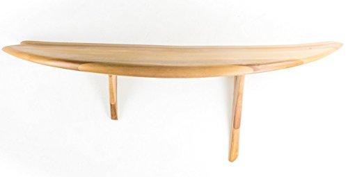 Fish Surfboard Tisch (gebogener Eingangsbereich Holz Konsolentisch für Häuser, Geschäfte, Resorts und Yachten) - Made in Italy Design