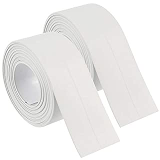 2 Pack Bathtub Caulk Strip PE Sealing Tape Adhesive Caulking Sealant Waterproof Sealer Tub, 38mm X 3.35M(1-1/2