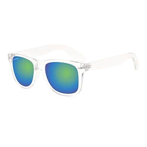 Royal Son UV Protected Wayfarer Sunglasses For Men And Women (RS007WF|53|Blue+Green Mirrored Lens)