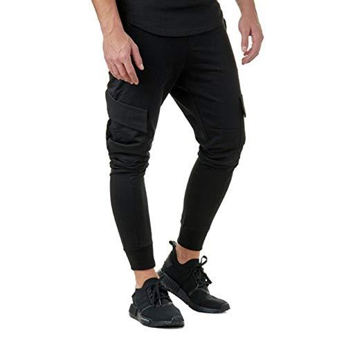 Dragon868 pantalone uomo, pantalone slim fit vita elastica ginnastica casual taglie forti m-3xl verde grigio nero