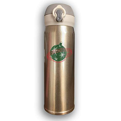 Sport-Trinkflasche, Reisebecher-Vakuumflasche, Stainless Water Bottle Thermal Insulated Cup With Bounce Cover Custom Merry Christmas Bell Decoration Gift,17 Oz Bell Krug