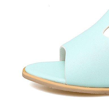LvYuan Da donna-Sandali-Formale Casual-Altro-Quadrato-PU (Poliuretano)-Blu Rosa Bianco Blue