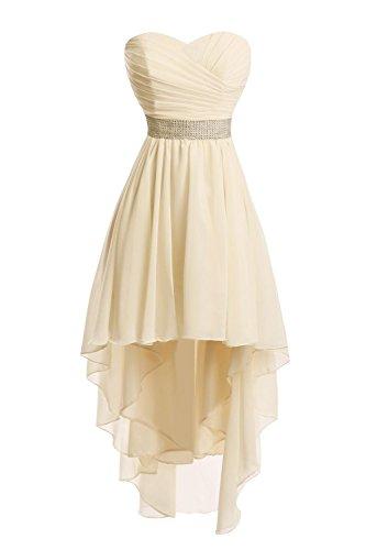 JAEDEN Ballkleider Brautjungfernkleider Abendkleider Chiffon Partykleid Hochzeitskleider Champagner...