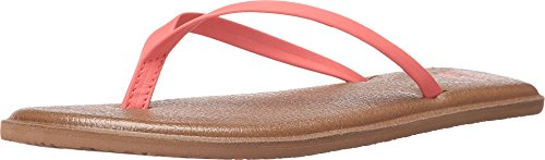 Sanuk Womens Yoga Bliss Flip Flop Spiced Coral Size 5 -