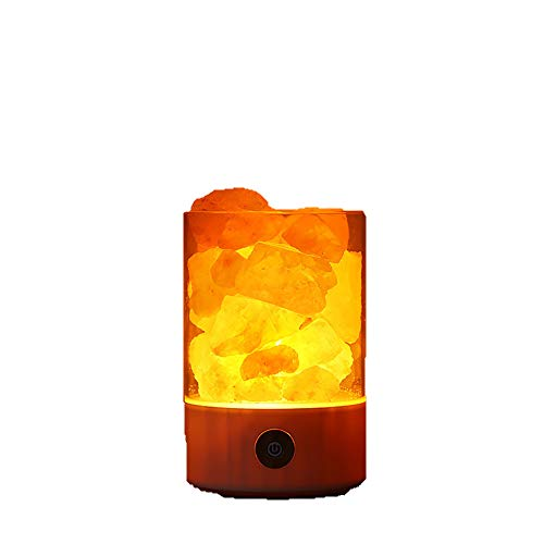 Himalaya Natural Pink Crystal USB Salz Lampe Therapeutic Rock Tragbares Becken Design Und Touch Dimmable Control Für Home Decoration Geschenk Purifying Luft - Himalaya-natural Rock