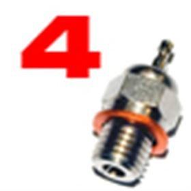 Jets Candela n.4 per Motori a Scoppio Glow Plug 1 pz