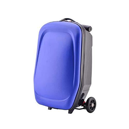 AXDNH 35L Grande capacità Trolley Bag Uomini e Donne Bagaglio Studente Impermeabile PC Travel Zaino Scooter Zaino Bordo Telaio decompressione Tempo Resistente all'Usura Bagaglio Box,B