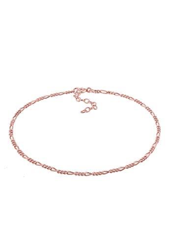Elli Fußschmuck Damen Figarokette Sommer Strand Zeitlos Basic in 925 Sterling Silber
