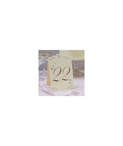 numéros de table mariposas-marfil (13 - 24) - décoration de Mariage, fêtes et événements