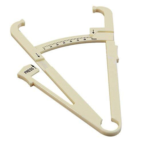 VROSE FLOSI Persönliche Körperfett Tester Taschenrechner Bremssattel Fitness Clip Fat Messung Instrument mit Slim Diagramm der und Skinfold Test Instrument-Beige