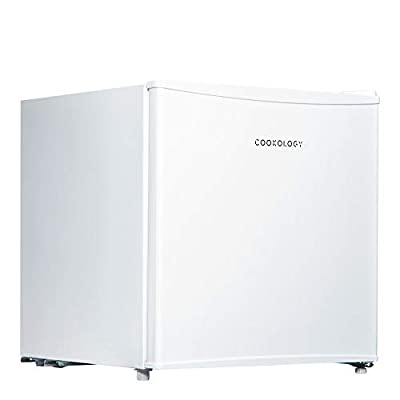 Cookology Table Top Mini Fridge in White, A+ Rated, 46 Litre Refrigerator with Ice Box