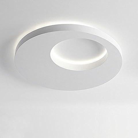 32W LED Plafonnier rond Éclairage intérieur Économiseur d'énergie Flush Mount Plafonnier Simple tête Blanc Lumière 4500K Ø 50CM