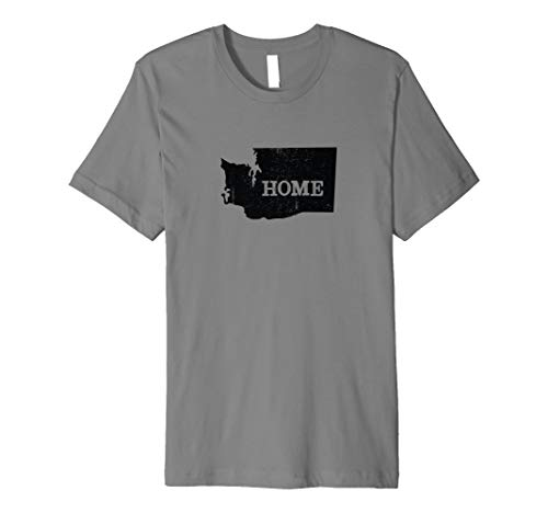 Washington Home Love Vintage state map outline shirt gift