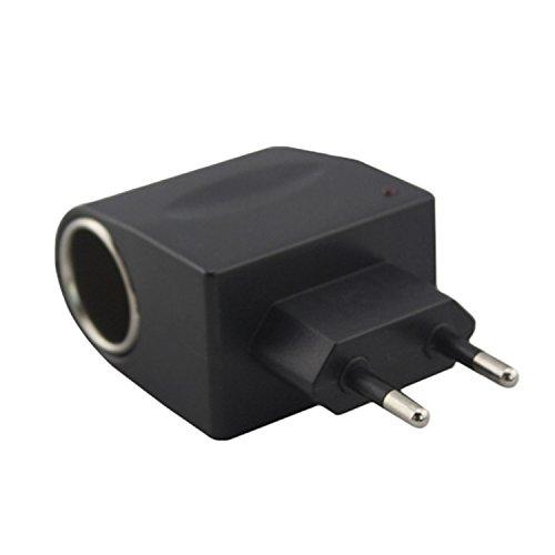 AC DC Converter Auto zu Hause Netzteil Adapter Inverter Zigarettenanzünder 220 V zu 12 V 500 mA EU Stecker Schwarz (12 Volt Zu Ac Inverter)
