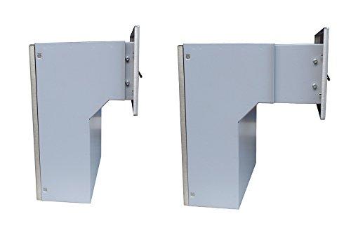 F-04 Edelstahl Mauerdurchwurf Briefkastenanlagemit zwei Klingeln und 2 Namensschildern (variable Tiefe) – LETTERBOX24.de - 2