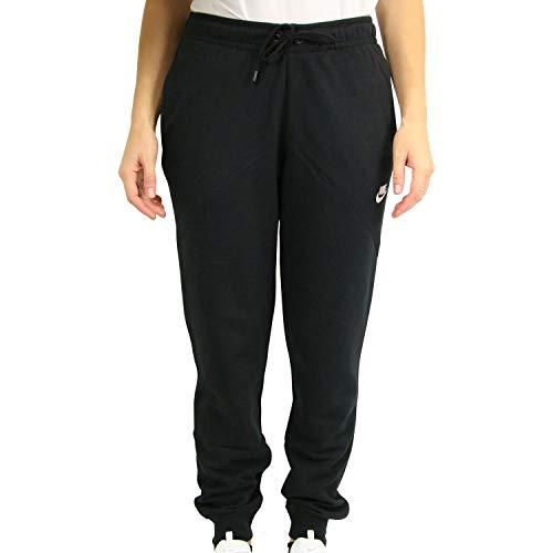Nike Damen W NSW ESSNTL Pants REG FLC Sport Trousers, Black/White, M -