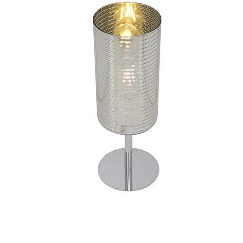 Brilliant 69747/47lámpara de mesa, cristal/Metal, Cromo/plata/oro