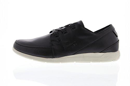 Boxfresh kEEL cat cP lEA cuir chaussures homme taille 46 eUR 40 eUR en cuir Noir
