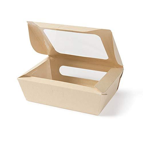 Biozoyg box da asporto di fibre di bambù i bio scatola di cartone