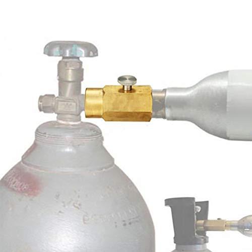 CO2-Adapter - Delaman CO2-Nachfülladapter-Anschlusskit Tank für SodaStream CGA320-Ventil des CO2-Tanks füllen (Co2 Tank Adapter)