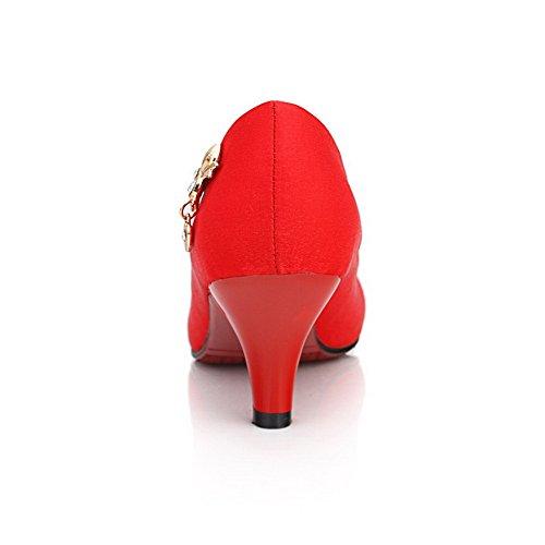 Adee , Sandales Compensées femme Rouge - rouge