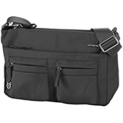 Samsonite Move 2.0 Horizon Shoulder Bag + Flap Bolso Bandolera, 3.94 Litros, Color Negro