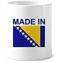 DIYthinker Hecho en Bosnia Herzegovina Titular País Cepillo de dientes pluma Taza blanca taza de cerámica