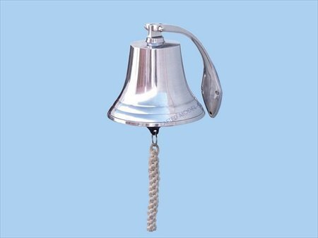 Hanging Harbor Bell Finish: Chrome, Size: 7 H x 7 W x 7 D by Handcrafted Model Ships (Harbor Hanging Bell)