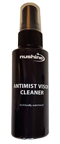 Nushine anti-appannamento/anti-fog visiera 50ml di liquido ecologico, senza solventi e a base di acqua. Funziona su vetri, specchi e occh