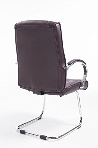 CLP Besucher Freischwinger-Stuhl BASEL V2 mit Armlehne – gepolstert braun - 4