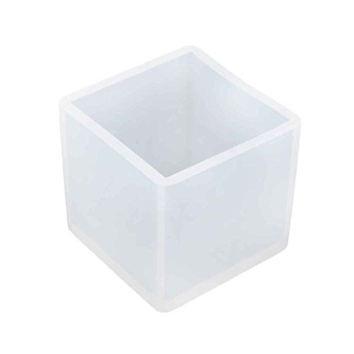 Cube 9mm Silikon-Form-Schmucksache-Anhänger-Harz-Fertigkeit-Form mit Aufhängeloch DIY Werkzeug 65x65x65mmDeinbe -