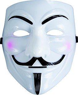 Anonymus Maske Karnevalsmaske weiss-schwarz Einheitsgröße