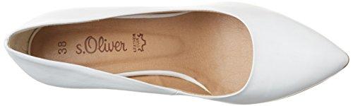 s.Oliver 22402, Scarpe con Tacco Donna Bianco (WHITE 100)