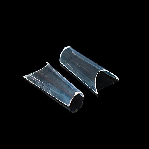 Lot de 500 pointes tunnels de qualité studio - Transparent - Pour design des ongles - Dans un sac