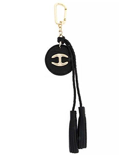 JUST CAVALLI Damen Schlüsselanhänger Echtleder schwarz one size