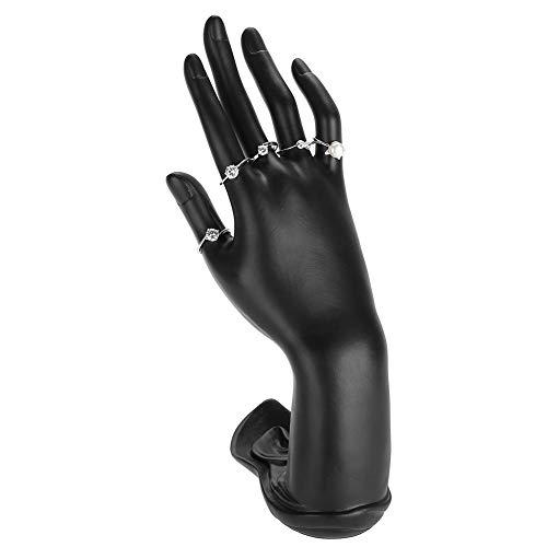 nder Halter, Hand Finger Armband Display, Armband Schmuck Halter Hand Schaufensterpuppe Rack Schaufensterpuppe Hand Finger Handschuh Ring Armband Armreif (Resin Black) ()