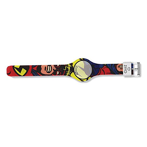 Orologio digitale piccolo ZITTO COMICS in silicone multicolore SUPERHERO-MD-MINI