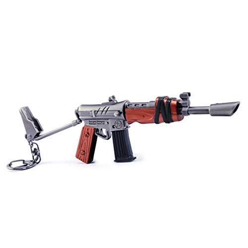 B&L Uzi Maschinengewehr Modell Uzi Keychain 1 /6 Scale Car Key Buckle Weapon Model Toy Guns Model Action Figure (Gun Uzi Spielzeug)