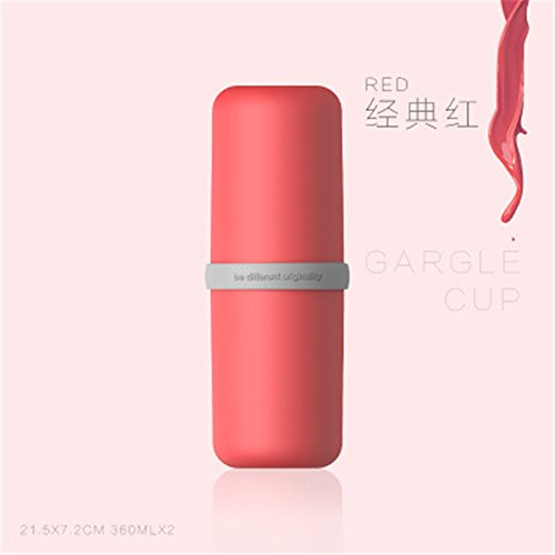 MIWANG Einfache kreative Kapsel, Reisen Mundwasser Schale, Portable Zahnbürste, Zahnpasta, 20,5 * 7 Cm, Classic rot, 301-400 ml (Classic Zahnbürste-halter)