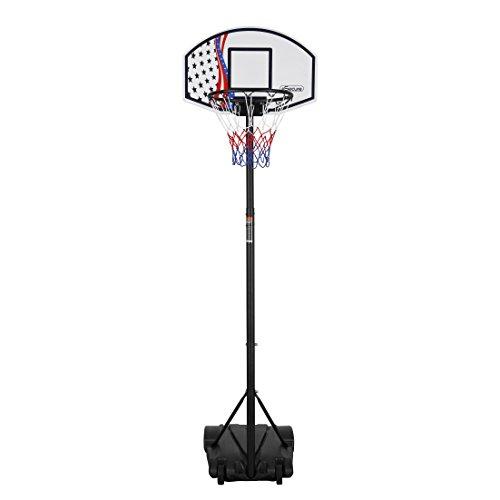 Esecure Panier De Basket Auto Portant Entierement Ajustable Set Cercle