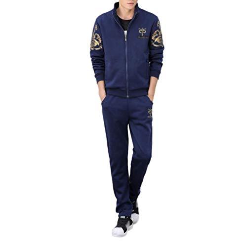 ❤️Ensemble de Sport Homme Amlaiworld Imprimé 2 Pièces Sweatshirt Veste à Capuche Casual Manches Longues Pantalon de Sport Survêtement de Jogging Fitness Workout
