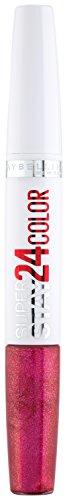 Maybelline New York Make-Up Lippenstift Superstay 24h Color liquid Lipstick Sparkling Fuchsia/Glitzerndes Pink mit 24 Stunden Halt, 1 x 5 g (Mit Lippenstift Mädchen Rosa)