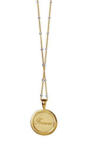 Babette Wasserman épingle de torsion en argent sterling Love Forever Collier de 46cm doré