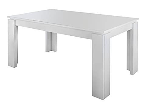 Maisonnerie 1100-162-01 Table de Salle à Manger Extensible Blanc LxLxH