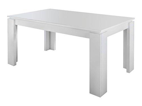 trendteam smart living Esstisch Küchentisch Universal, 160 x 77 x 90 cm in Weiß erweiterbar durch Ausziehfunktion auf 200 cm