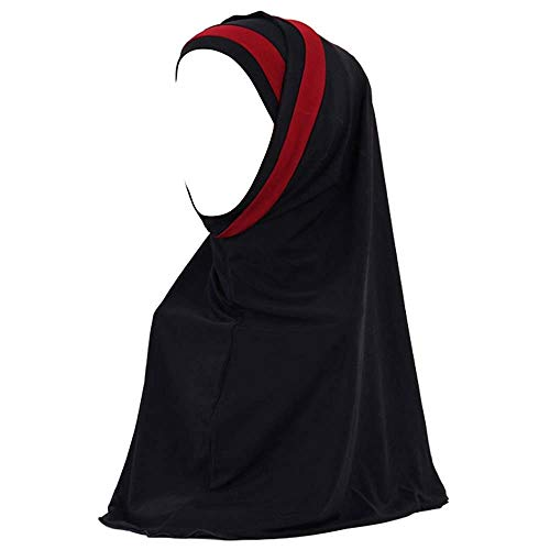 URIBAKY_Kopftücher Hijab Maxi Schal Groß Übergröße Einfarbig Baumwolle Schlauch islam schal