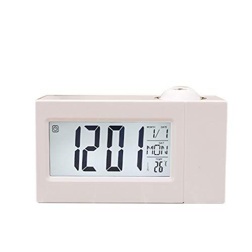 Kakiyi Business-Temperatur-Digital-Snooze-Funktion Uhr LCD-Projektions-Sound Control Elektronischer Wecker