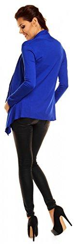 Zeta Ville Maternité Gilet Veste cascade grossesse manche longue femme 320c Bleu Royal